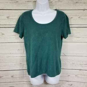 JACLYN SMITH short sleeve round neck fuzzy top M